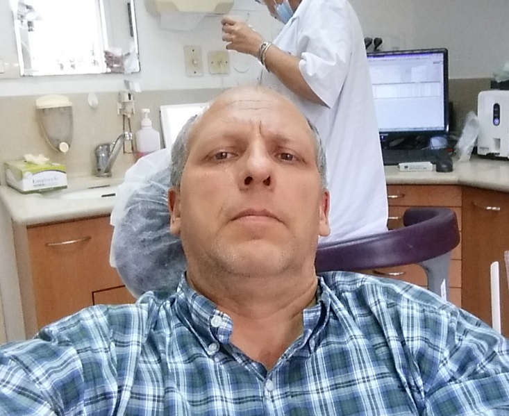aviels latest pic at the dentist